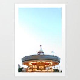 Paris Carousel in Motion Art Print
