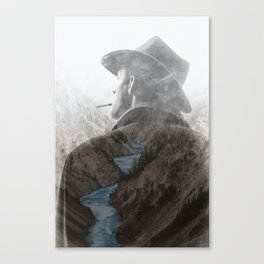 Mountain's Cowboy by GEN Z Canvas Print