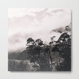 Ethereal Fog And Celestial Clouds Enveloping The Mountains Metal Print