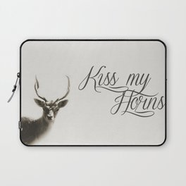 Oh Deer, kiss my horns. Laptop Sleeve