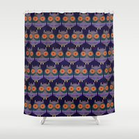 owls Shower Curtains featuring owls by Jonny Bateau