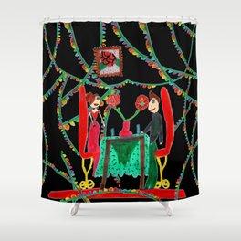Christmas Dinner | Kids Painting Shower Curtain