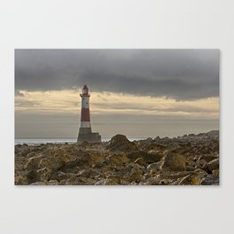 Beachy Head Lighthouse And Foreshore Canvas Print