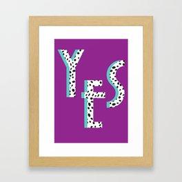 YES Poster | Purple Dalmatian Pattern Framed Art Print