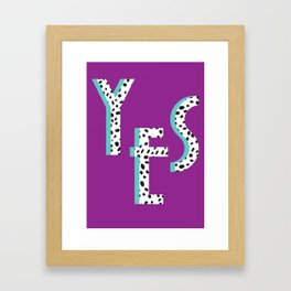 YES Poster | Purple Dalmatian Pattern Framed Art Print