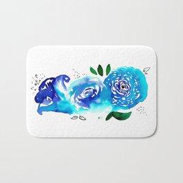 Three Blue Christchurch Roses Bath Mat