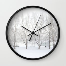 Winter in Confederation Park Wall Clock