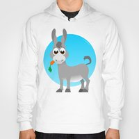 donkey Hoodies featuring Little donkey by tuditees