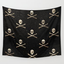 Skulls & Crossbones - Square Wall Tapestry