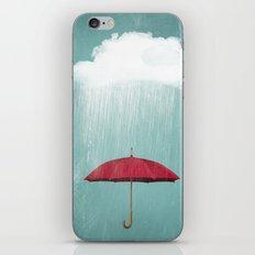WHITE RAIN iPhone & iPod Skin