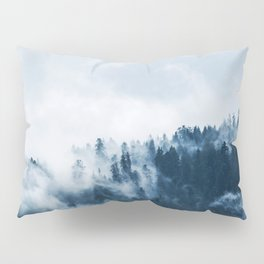 CLOUDS - WHITE - FOG - TREES - FOREST - LANDSCAPE - NATURE - TIMBER - WOODS - PHOTOGRAPHY Pillow Sham