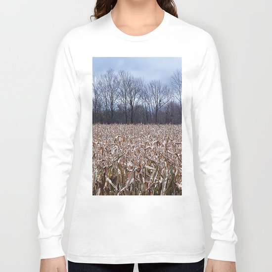 Field of Corn left Behind Long Sleeve T-shirt