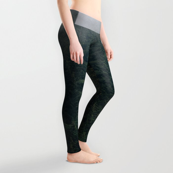 Mystic Pines - A Forest in the Fog Leggings