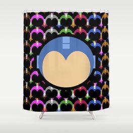 Blue Bomber Shower Curtain