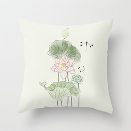 Pond of tranquility Throw Pillow