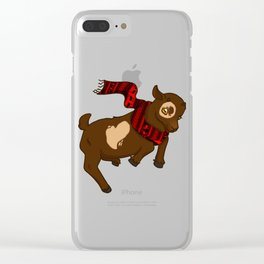 Heart Christmas Sweater Goat Clear iPhone Case