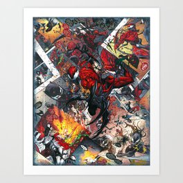 Carnage Comic2Canvas Comic Book Art Collage Art Print