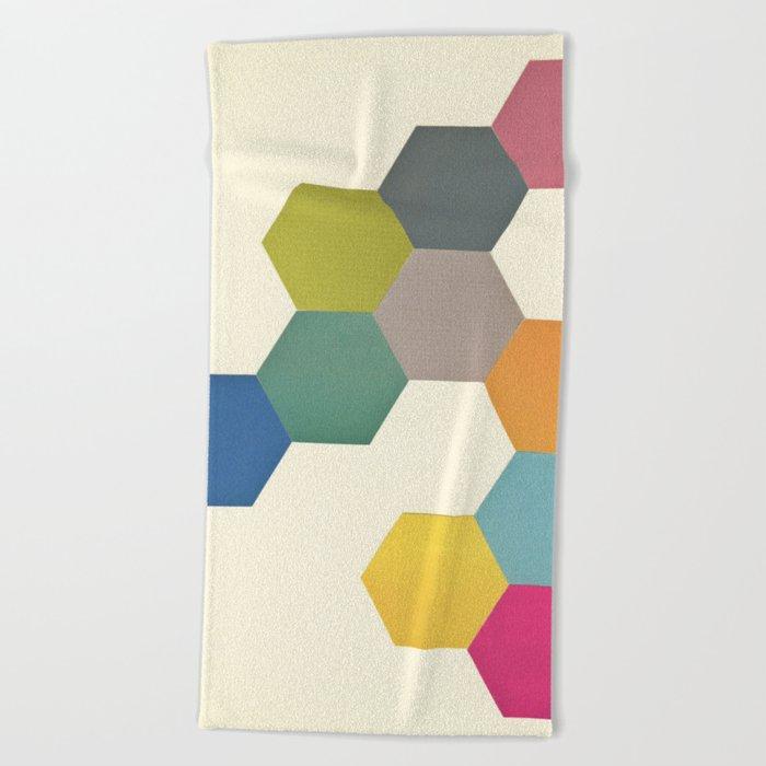 Honeycomb I Beach Towel