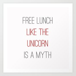FREE LUNCH 1 Art Print