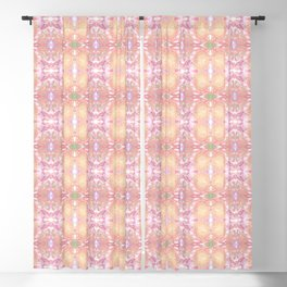 whimsical sunflower with butterfly pattern Blackout Curtain