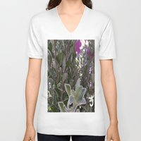 plant V-neck T-shirts featuring Plant by ANoelleJay