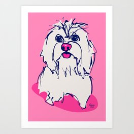 Lulz - candypink Art Print