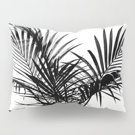 Little palm tree in black Pillow Sham