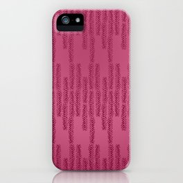 Eye of the Magpie tribal style pattern - raspberry red iPhone Case