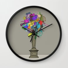 Fleur de Mechanique Wall Clock