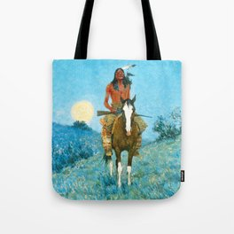 Frederic Remington - The Outlier, 1909 Tote Bag