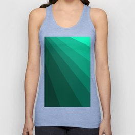 Sea green folding hand fan, fresh and simple summer tropical mood design Unisex Tank Top