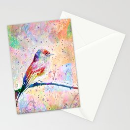 Flashy Phoebe - Black Phoebe Bird Stationery Cards