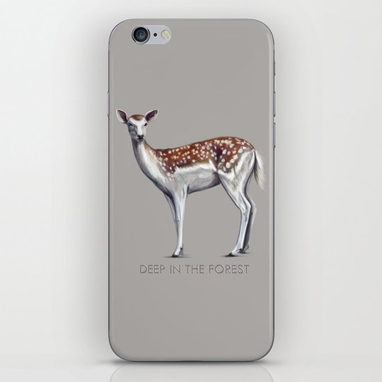 Deer in the forest iPhone & iPod Skin