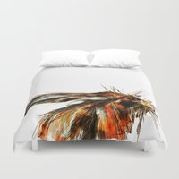 hare Duvet Covers featuring Hare by James Peart