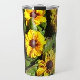 Yellow Daisy Patch Travel Mug