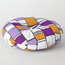 Poyple and Oynge Floor Pillow