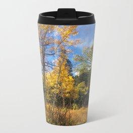 Golden Sun-ray Metal Travel Mug