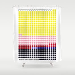 Girl with Hair Ribbon (Roy Lichtenstein) color-sorted Shower Curtain