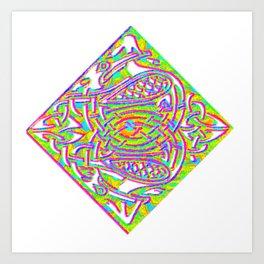 celtic knotted diamond Art Print