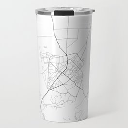 Minimal City Maps - Map Of Shkoder, Albania. Travel Mug