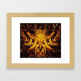 Deva Asura Gold Framed Art Print