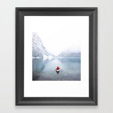 Kayaking Across A Canadian Lake Framed Art Print