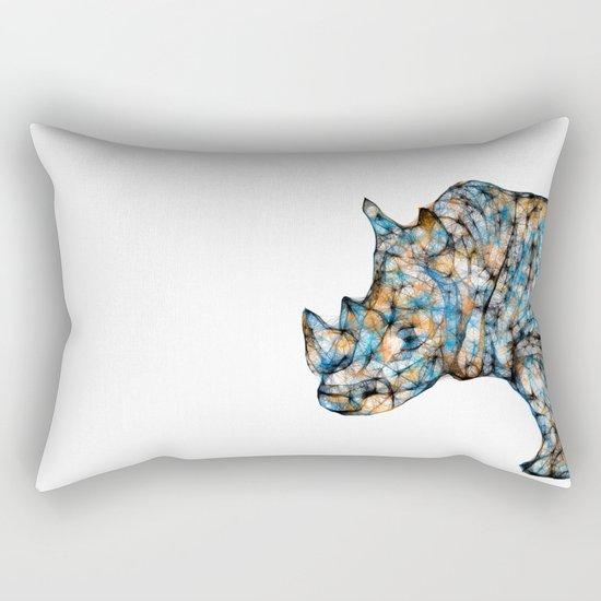 Rhino-no text Rectangular Pillow