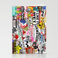 sticker Stationery Cards featuring Sticker Bomb by SOPHIA FREITAS