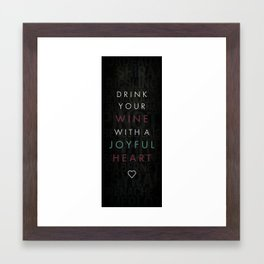 joyful heart Framed Art Print