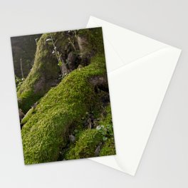 Ancient tree root with moss Stationery Cards