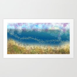 Abstract Seascape 02 wc Art Print
