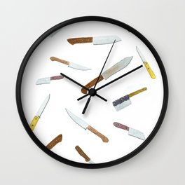 Chop Chop Slice Dice Wall Clock