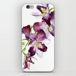 Radiant Orchids: Magenta Dendrobiums iPhone Skin