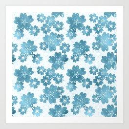 Colors blue on white Art Print